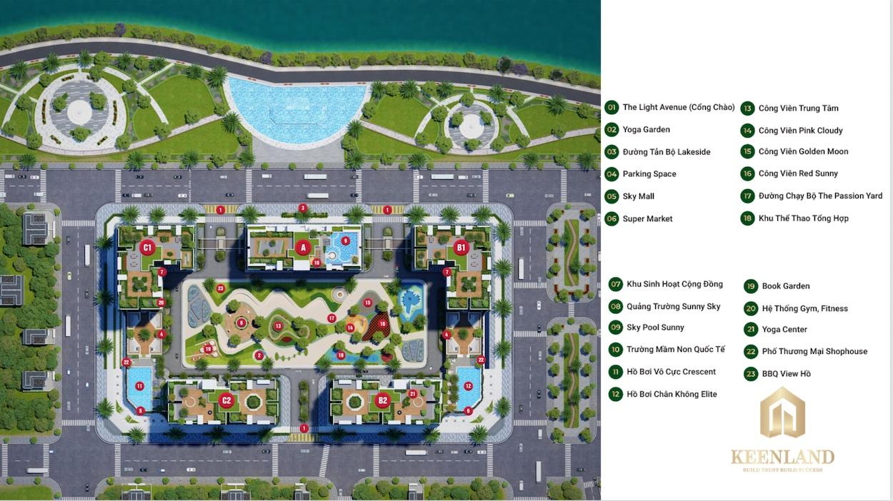 Mặt bằng tổng thể dự án căn hộ LDG Sky