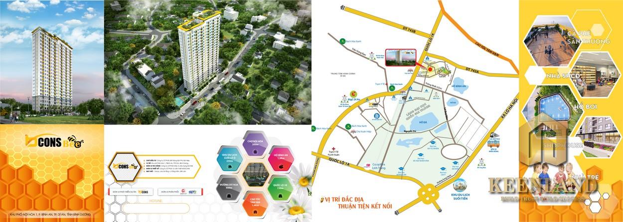 Tiện ích ngoại khu dự án căn hộ Bcons Bee Bình Dương