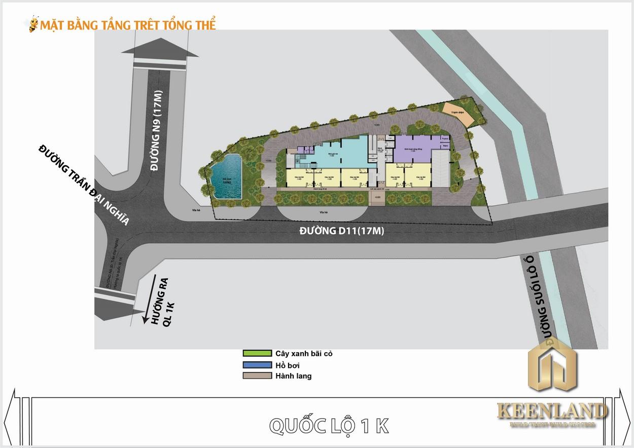 Mặt bằng tổng thể dự án căn hộ Bcons Bee Bình Dương
