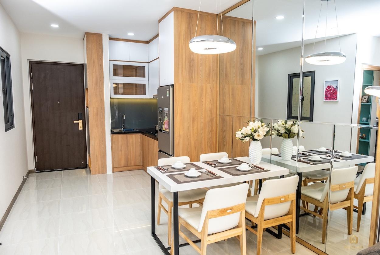 Phối cảnh phòng bếp nhà mẫu Bcons Plaza Bình Dương