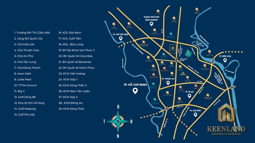 Vị trí địa chỉ Icon Plaza Thuận An Bình Dương nổi bật