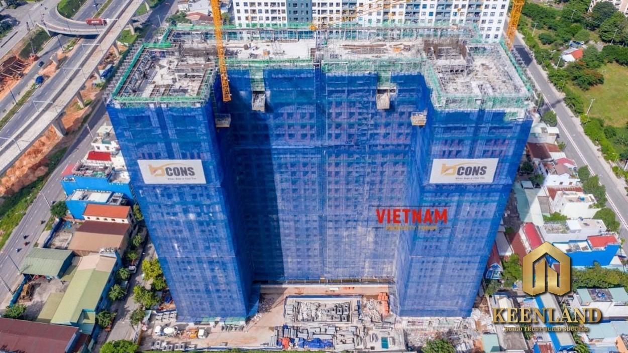 Tiến độ xây dựng dự án căn hộ Bcons Miền Đông Bình Dương tháng 08/2020