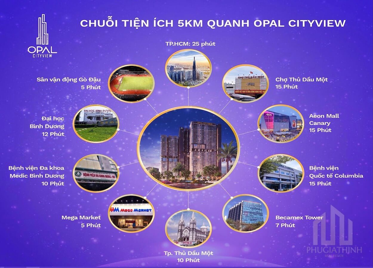 Tiện ích ngoại khu dự án Opal Cityview Bình Dương