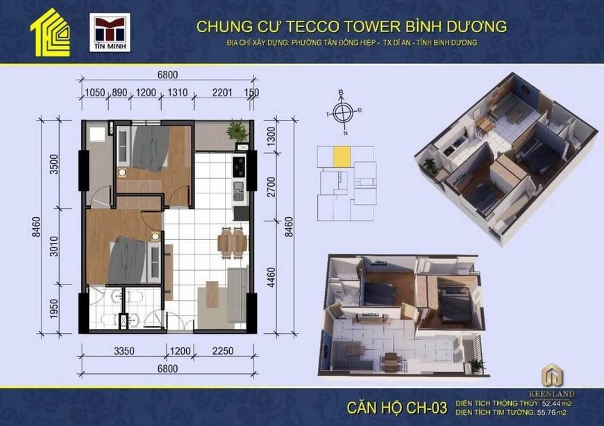 Thiết kế dự án căn hộ Tecco Tower Dĩ An Bình Dương