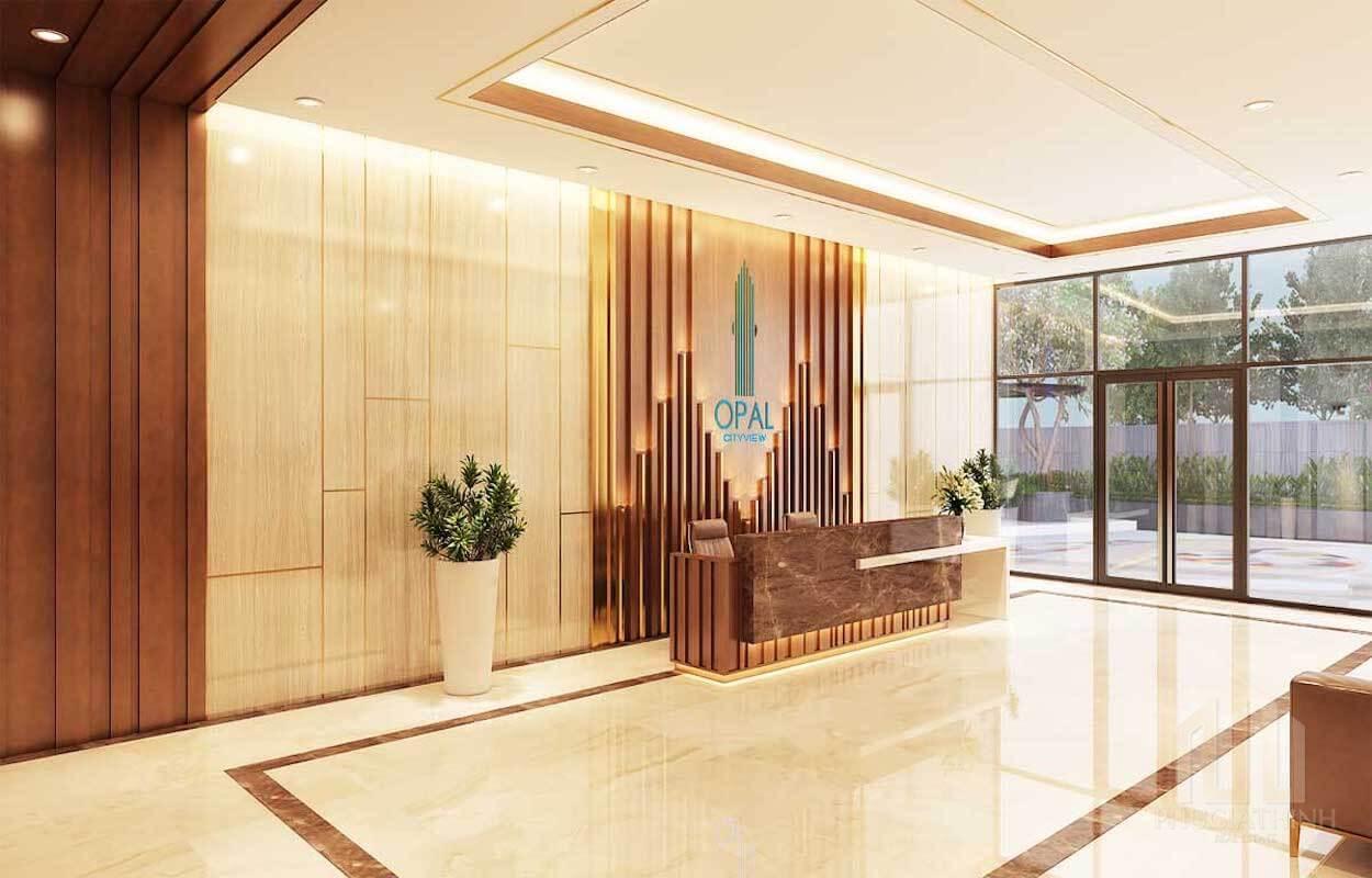 Sảnh đón cao cấp dự án căn hộ Opal Cityview Bình Dương