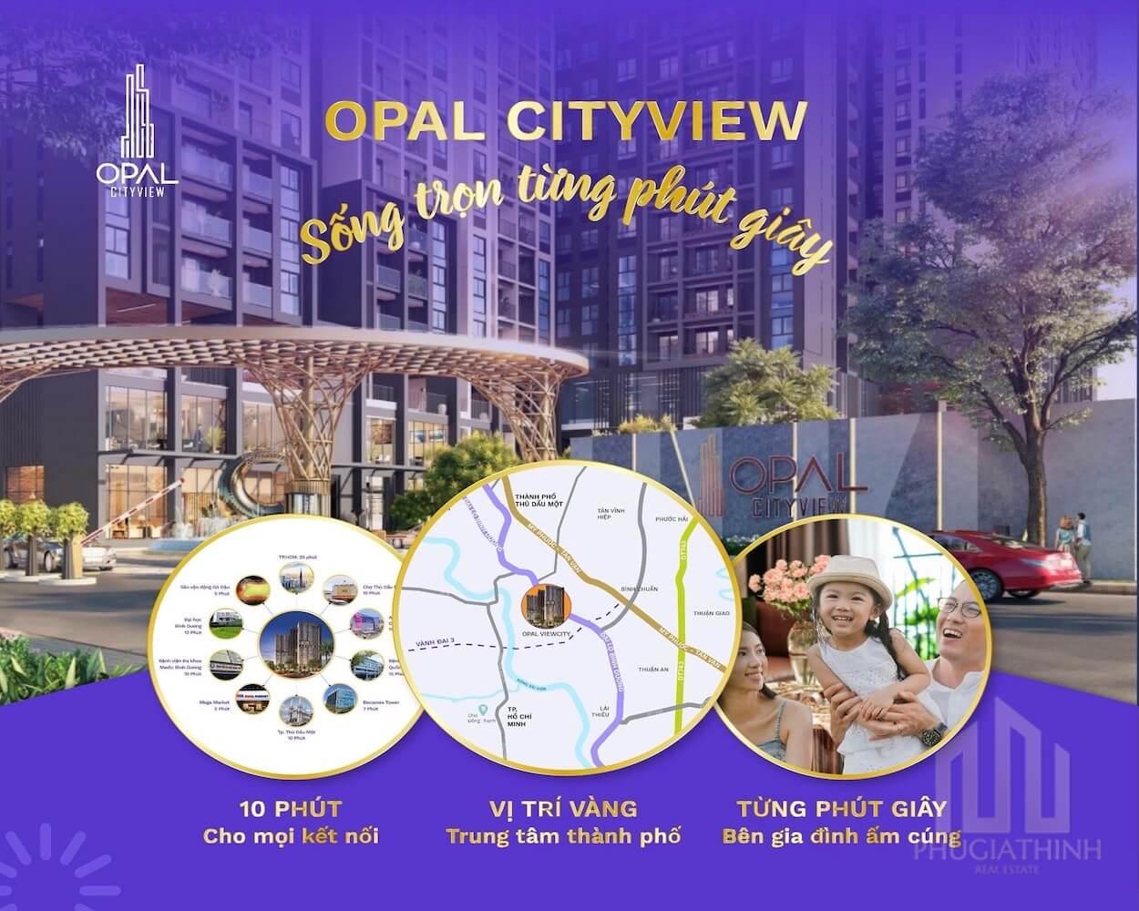 Vị trí kết nối dự án căn hộ Opal CityView Bình Dương