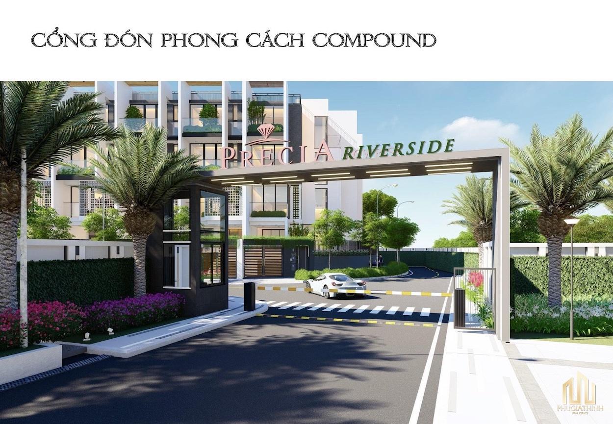 PRECIA RIVERSIDE QUẬN 2 cong don precia riverside