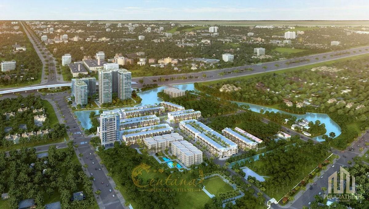 Phối cảnh tổng thể dự án Centana Điền Phúc Thành Quận 9