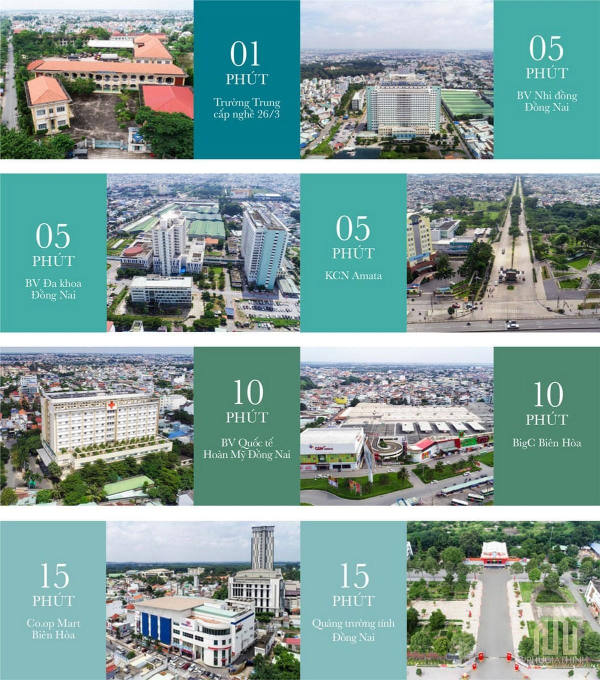 Tiện ích ngoại khu dự án Biên Hòa Universe Complex