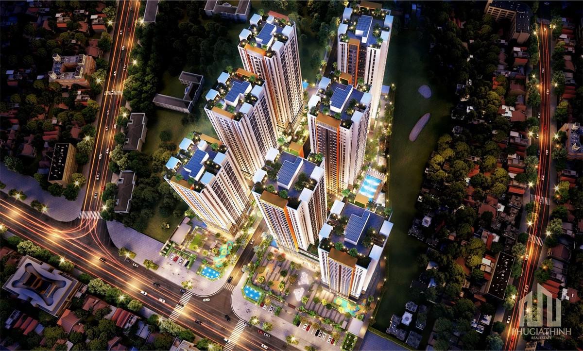 Phối cảnh tổng thể dự án căn hộ Biên Hoà Universe Complex
