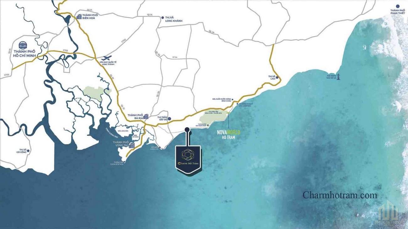 Vị trí dự án Charm Resort Hồ Tràm