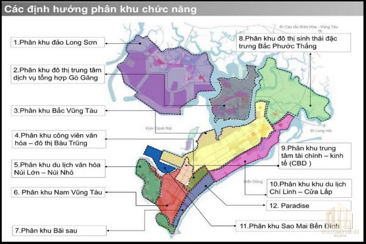 Bản đồ quy hoạch thành phố Vũng Tàu đến năm 2035