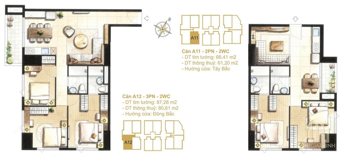 Thiết kế căn A11-A12a dự án Paris Hoàng Kim Quận 2