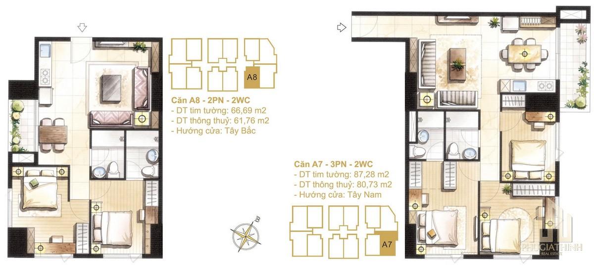 Thiết kế căn A7-A8a dự án Paris Hoàng Kim Quận 2