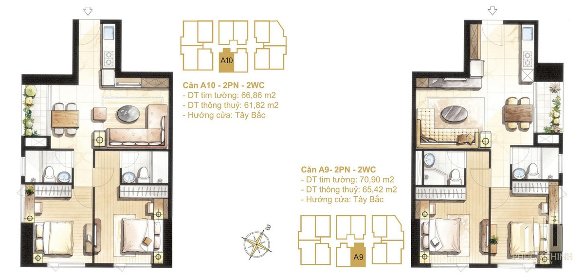 Thiết kế căn A9-A10a dự án Paris Hoàng Kim Quận 2
