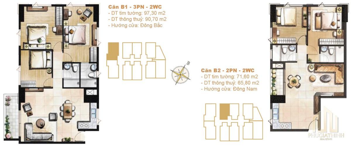 Thiết kế căn B01-B02 dự án Paris Hoàng Kim Quận 2