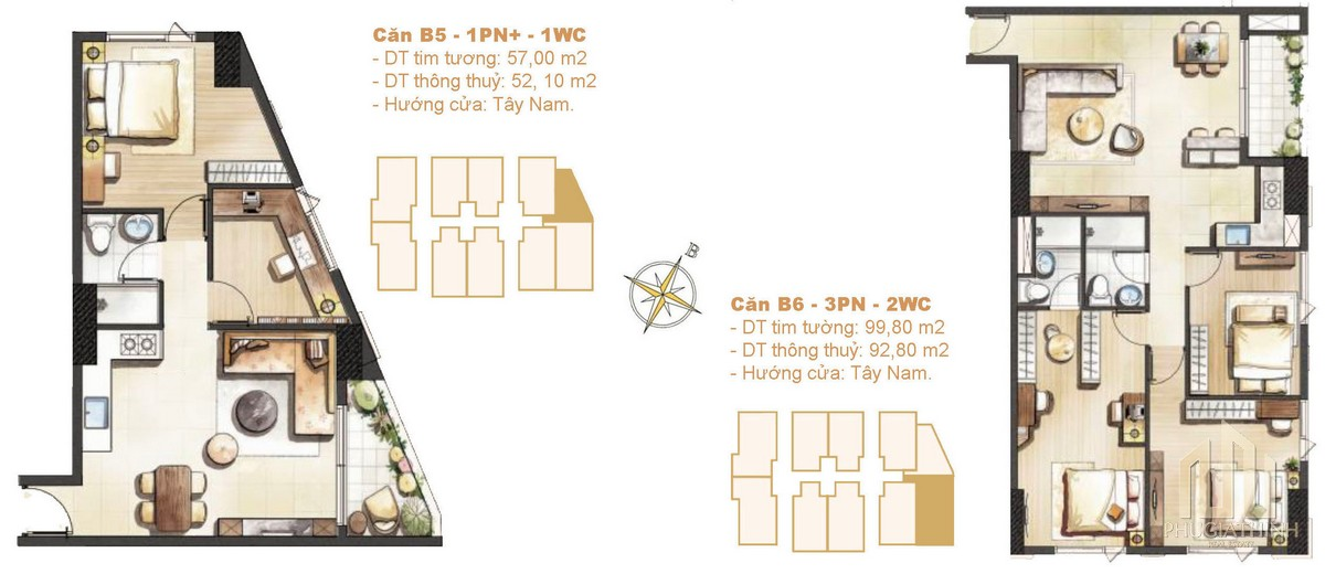 Thiết kế căn B05-B06 dự án Paris Hoàng Kim Quận 2