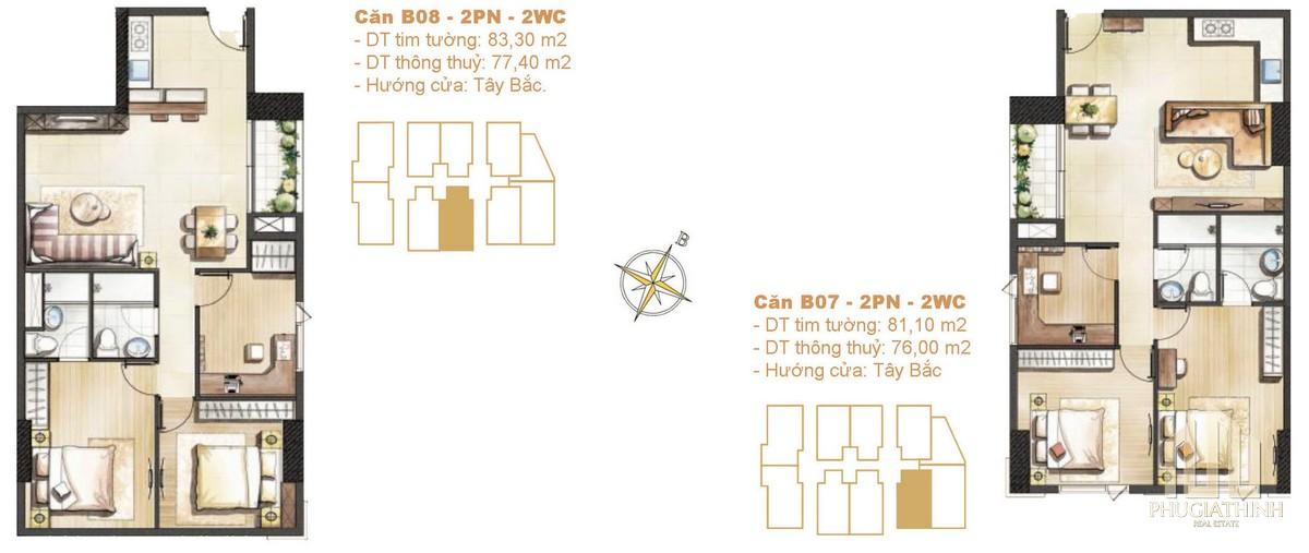 Thiết kế căn B07-B08 dự án Paris Hoàng Kim Quận 2