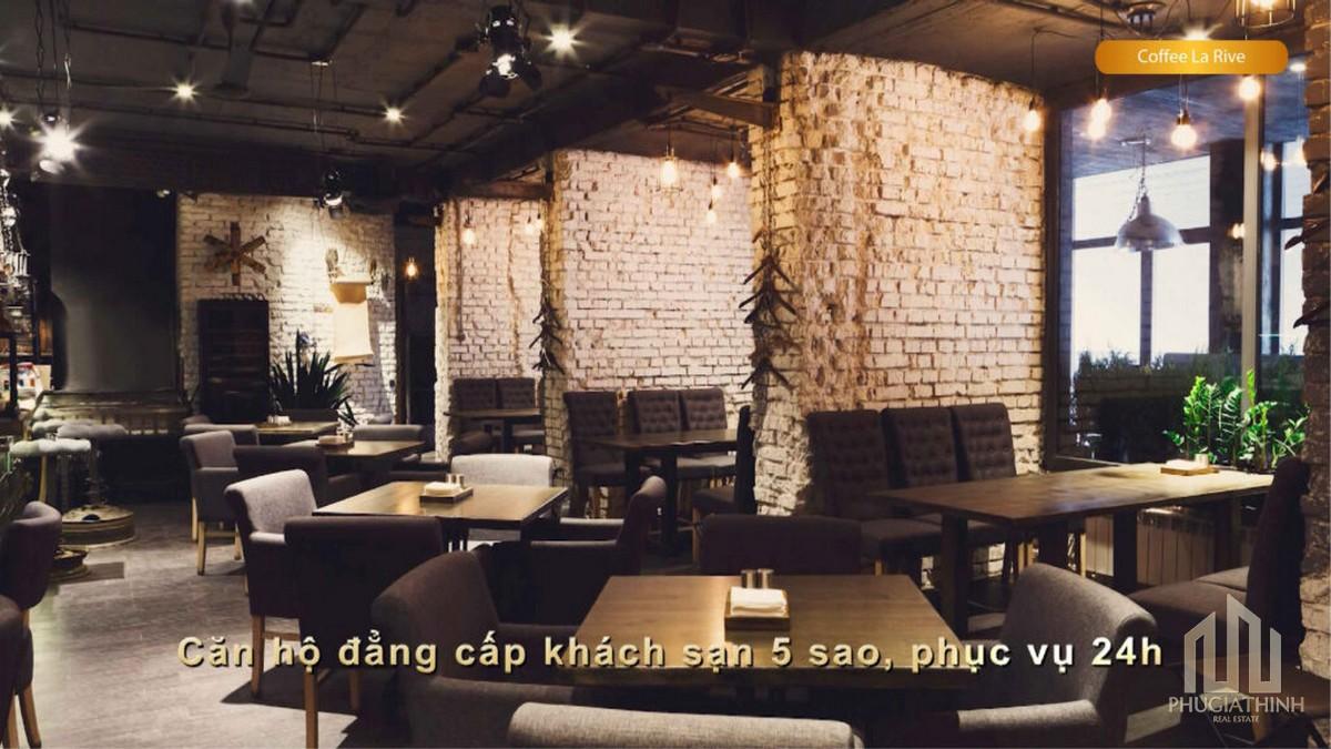 Khu cafe tại dự án Paris Hoàng Kim Quận 2