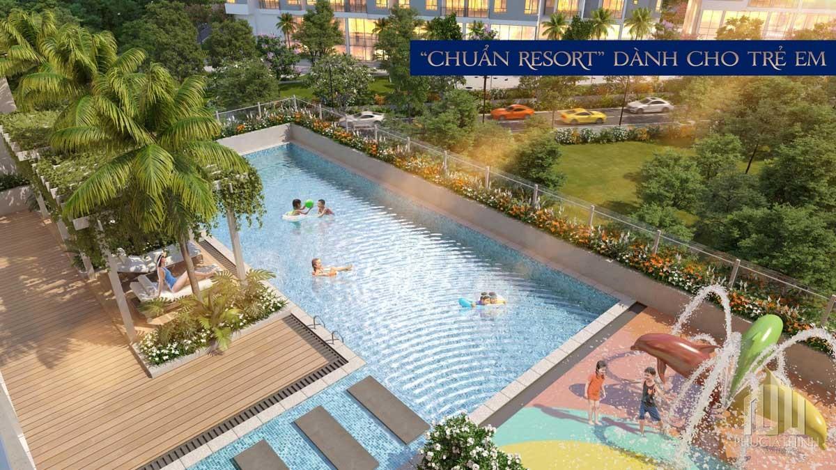Hồ bơi chuẩn resort tại dự án