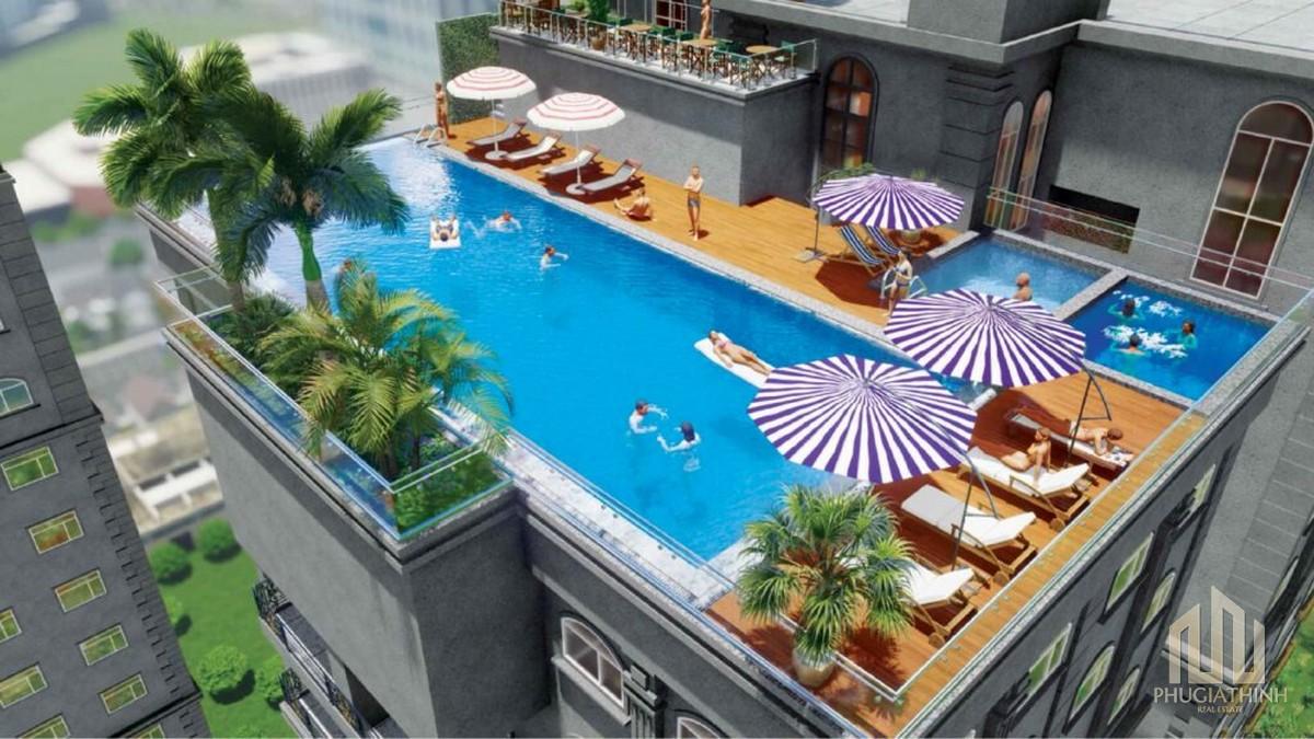 Hồ bơi vô cực tại dự án Paris Hoàng Kim Quận 2
