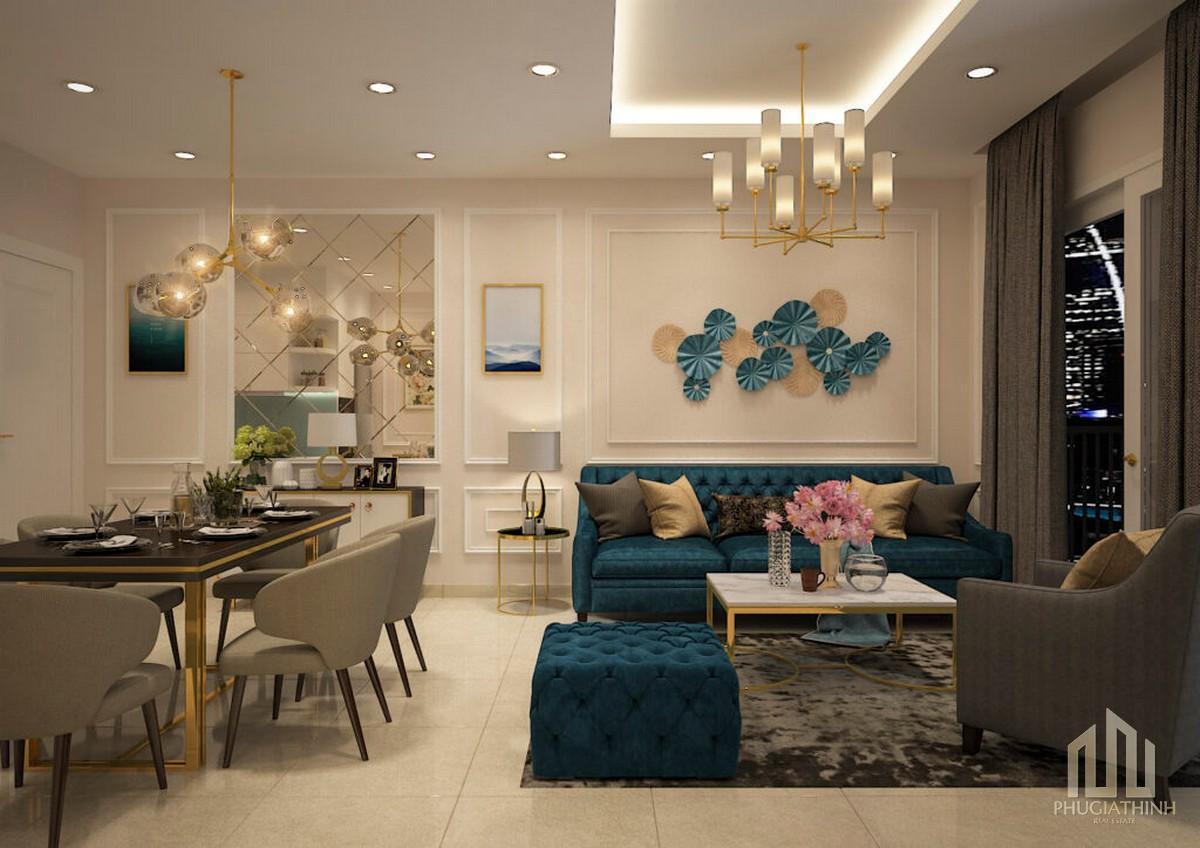 Phòng khách căn hộ Paris Hoàng Kim Quận 2