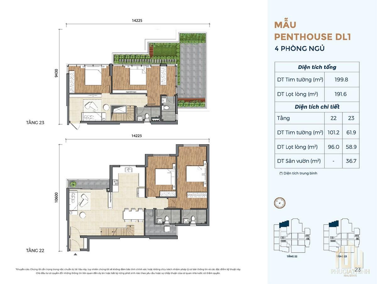Thiết kế căn hộ DL1 dự án Precia Quận 2