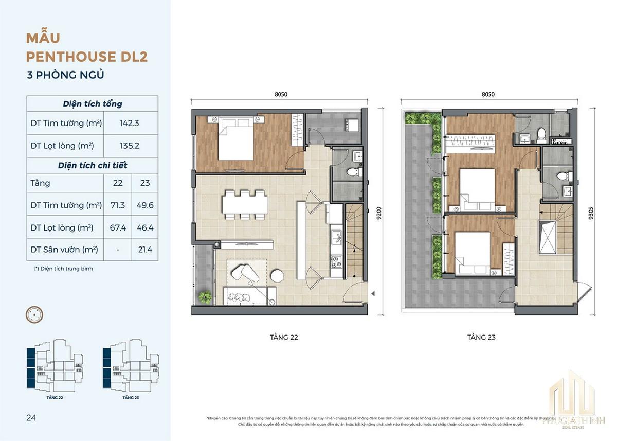 Thiết kế căn hộ DL2 dự án Precia Quận 2
