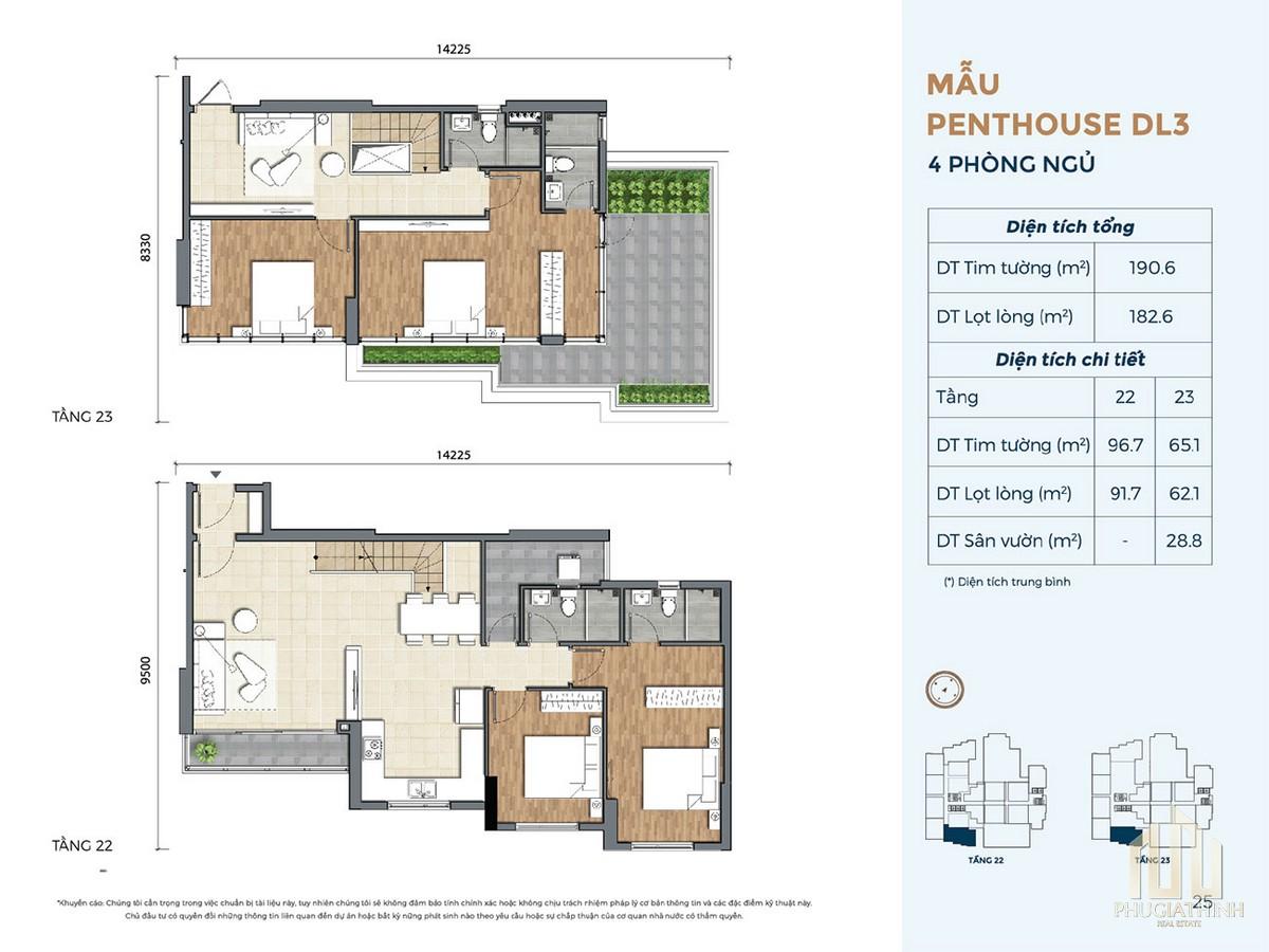 Thiết kế căn hộ DL3 dự án Precia Quận 2