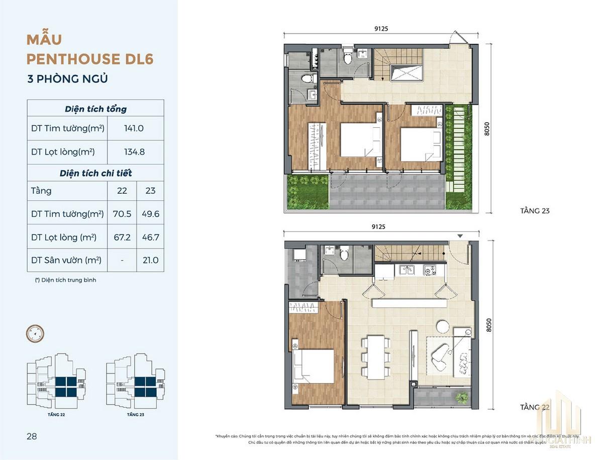 Thiết kế căn hộ DL6 dự án Precia Quận 2