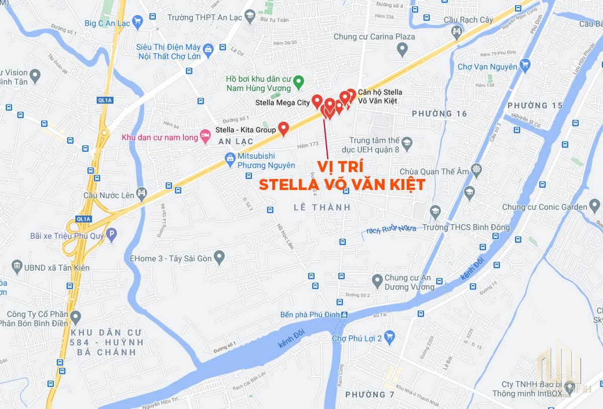 Vị trí dự án Stella En Tropic Võ Văn Kiệt