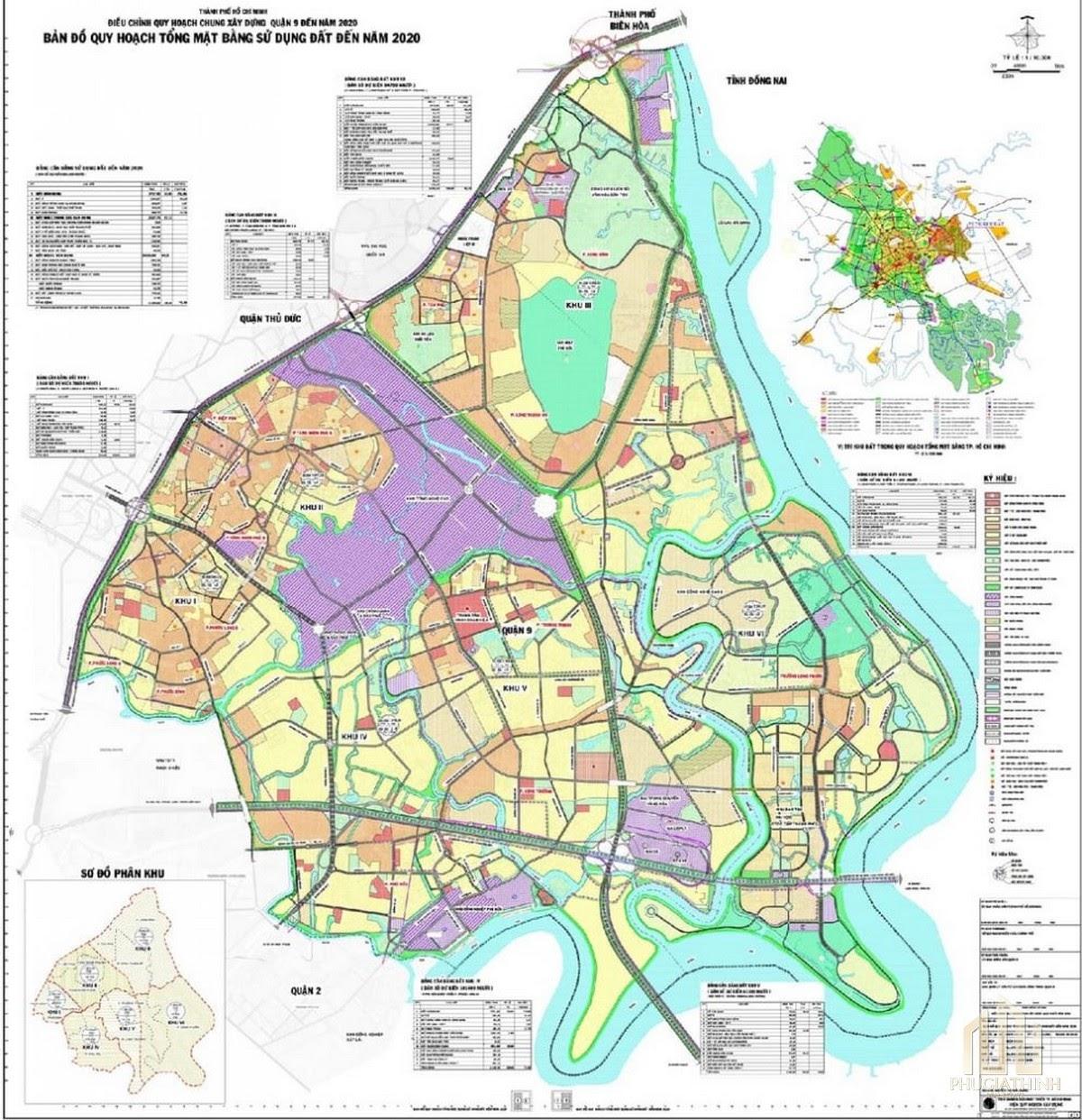 Bản đồ chi tiết quy hoạch quận 9 như thế nào