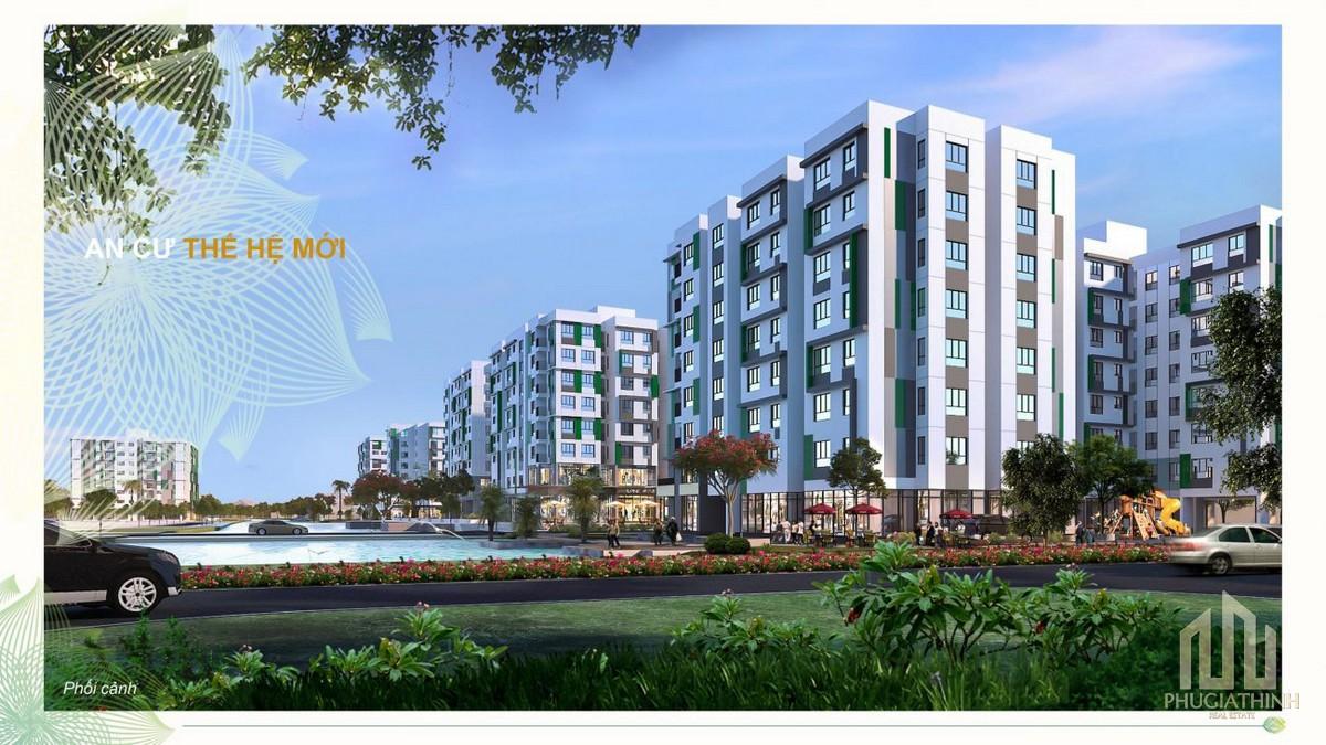 Phối cảnh tổng thể dự án Dragon E-Home Quận 9