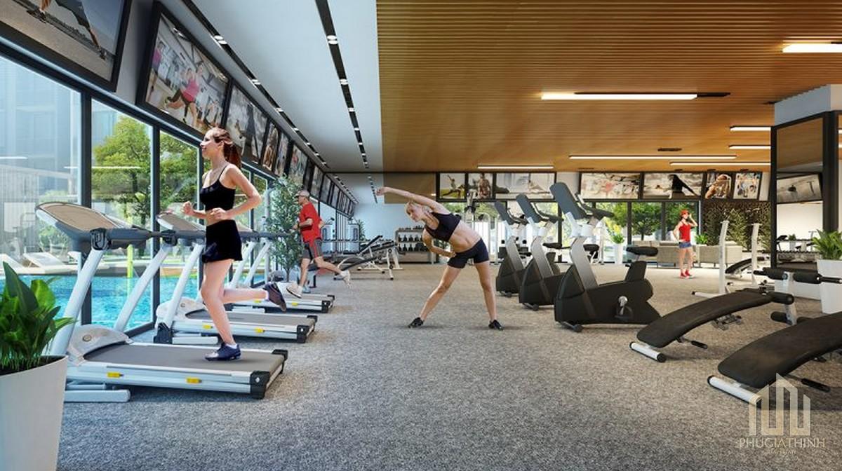 Phòng gym dự án Him Lam City (khu đô thị Bình An Quận 2)