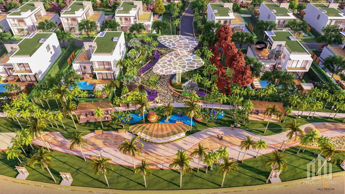 Quảng trường biển dự án Aria Vũng Tàu Hotel & Resort