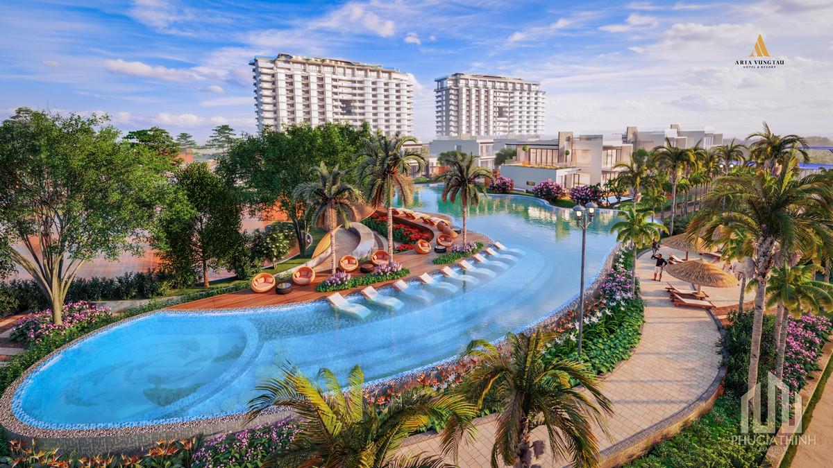 Hồ bơi trung tâm dự án Aria Vũng Tàu Hotel & Resort