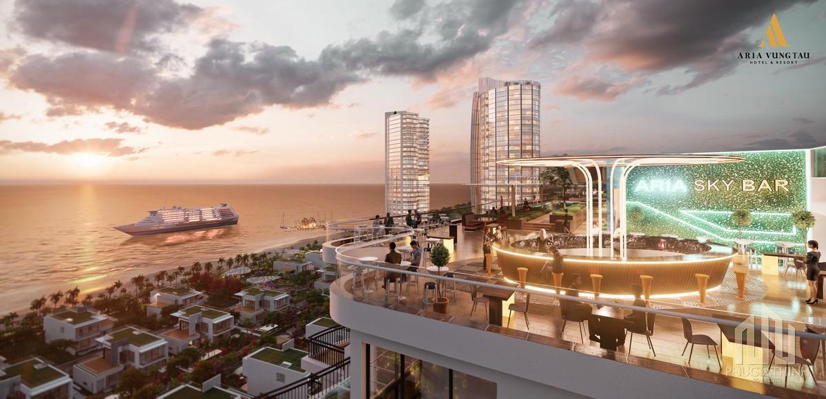 Sky bar đêm Aria Vũng Tàu Hotel & Resort