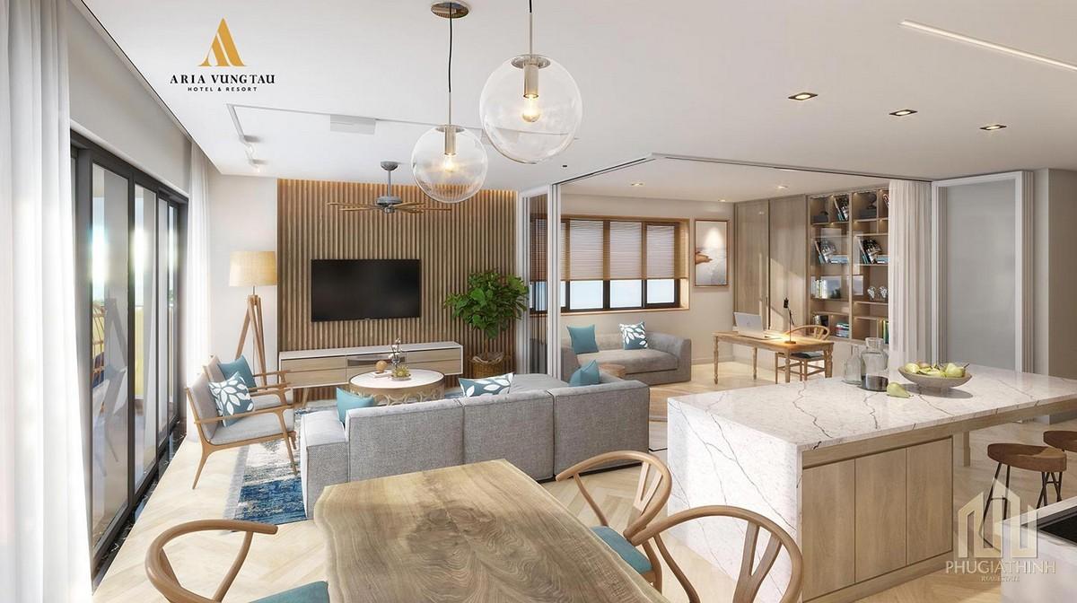 Nhà mẫu dự án căn hộ Condotel Aria Hotel & Resort
