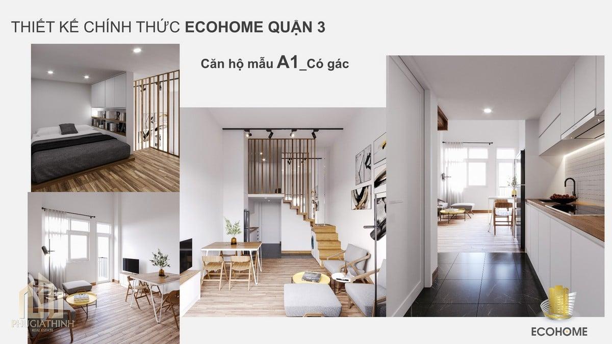 Căn hộ mẫu A1 có gác - dự án Ecohome Q3