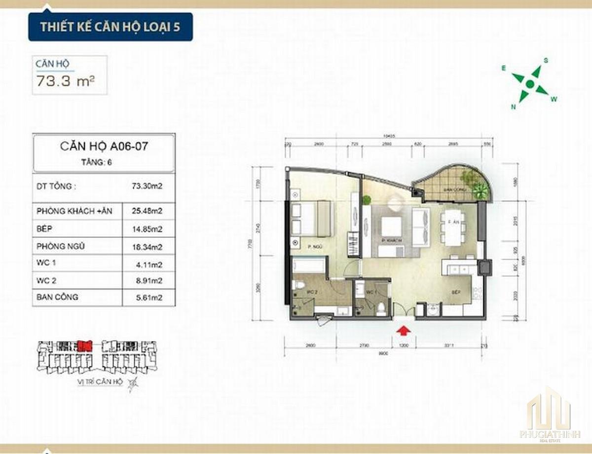 Thiết kế căn hộ loại 5 căn hộ condotel Aria