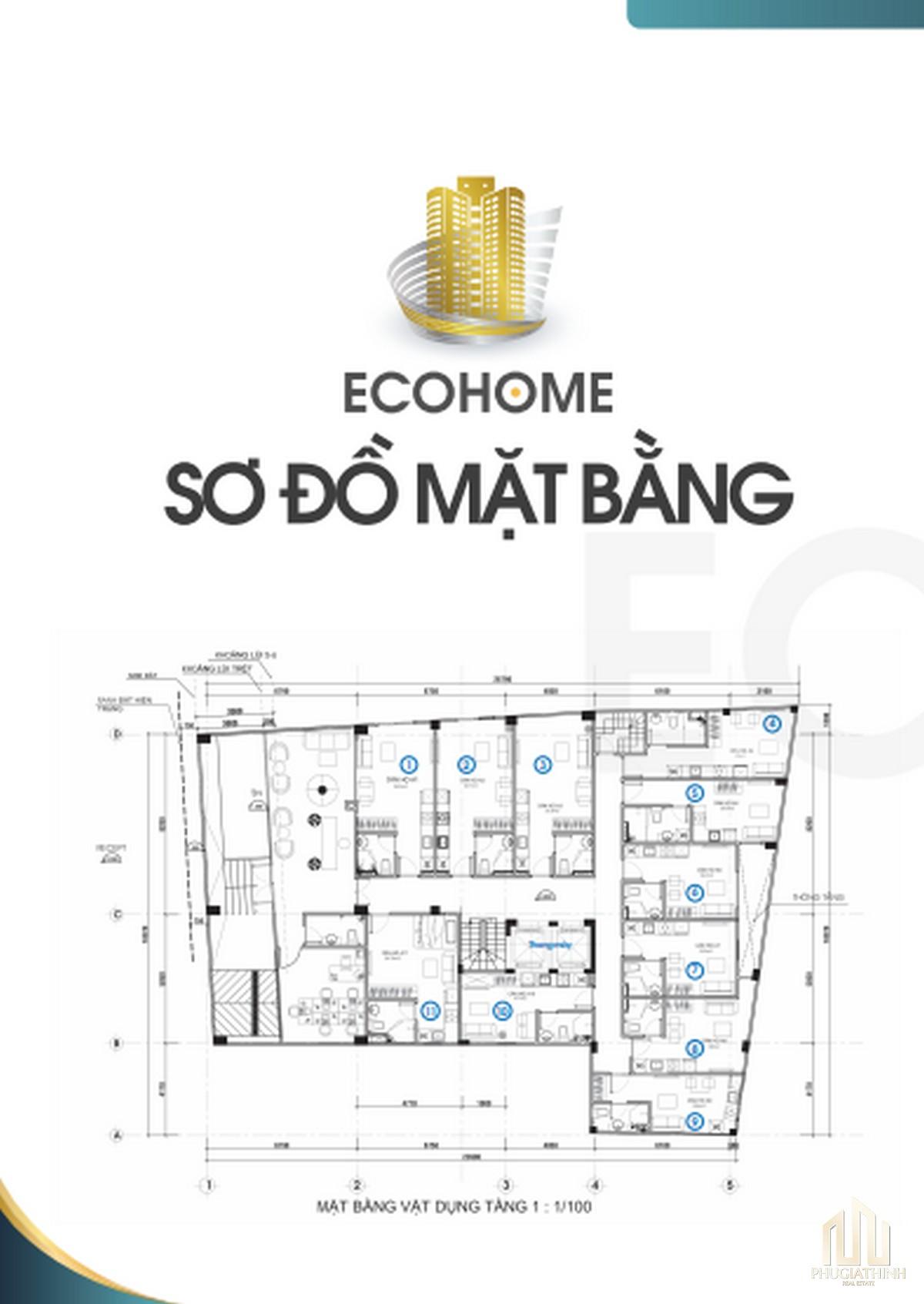 Mặt bằng dự án EcoHome Quận 3