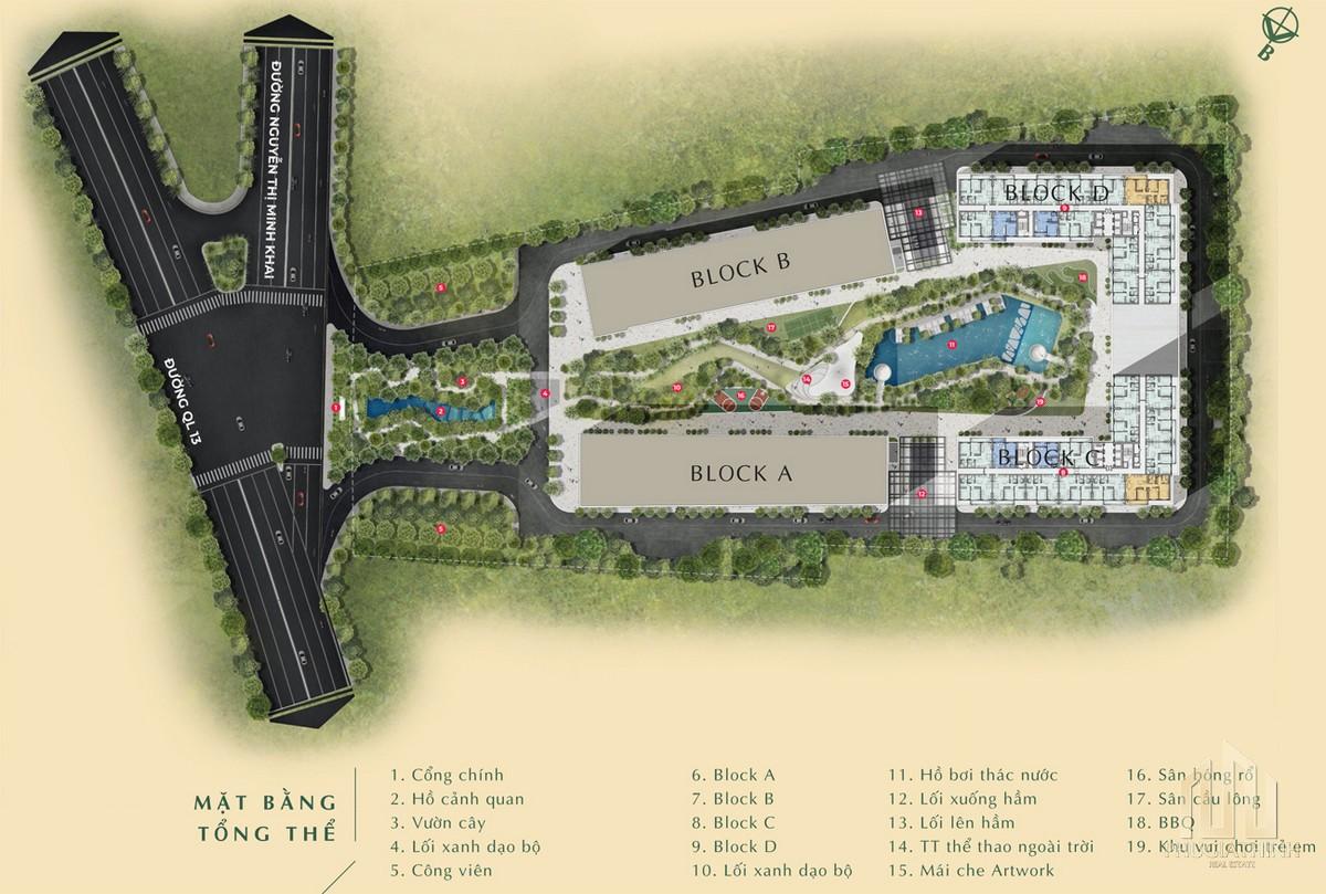 Mặt bằng tổng thể dự án Lavita Thuận An Bình Dương