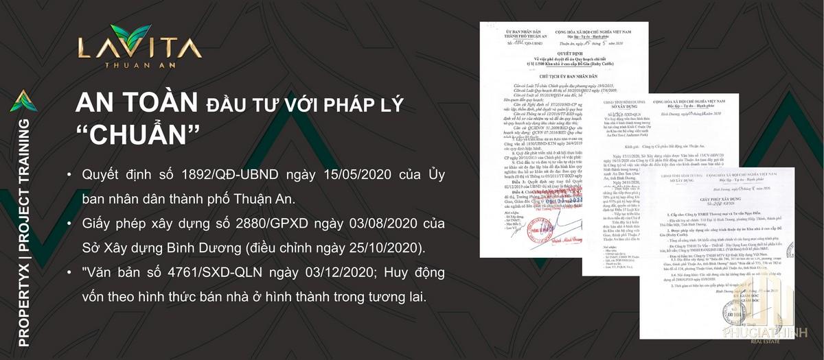 Pháp lý dự án Lavita Thuận An