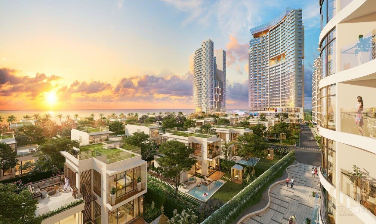 Phối cảnh tổng thể dự án condotel Aria Hotel & Resort