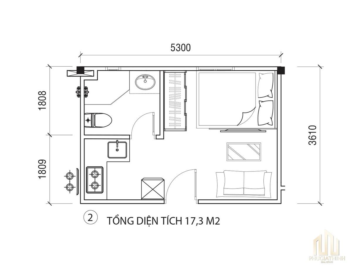 Thiết kế chi tiết căn hộ EcoHome Quận 3