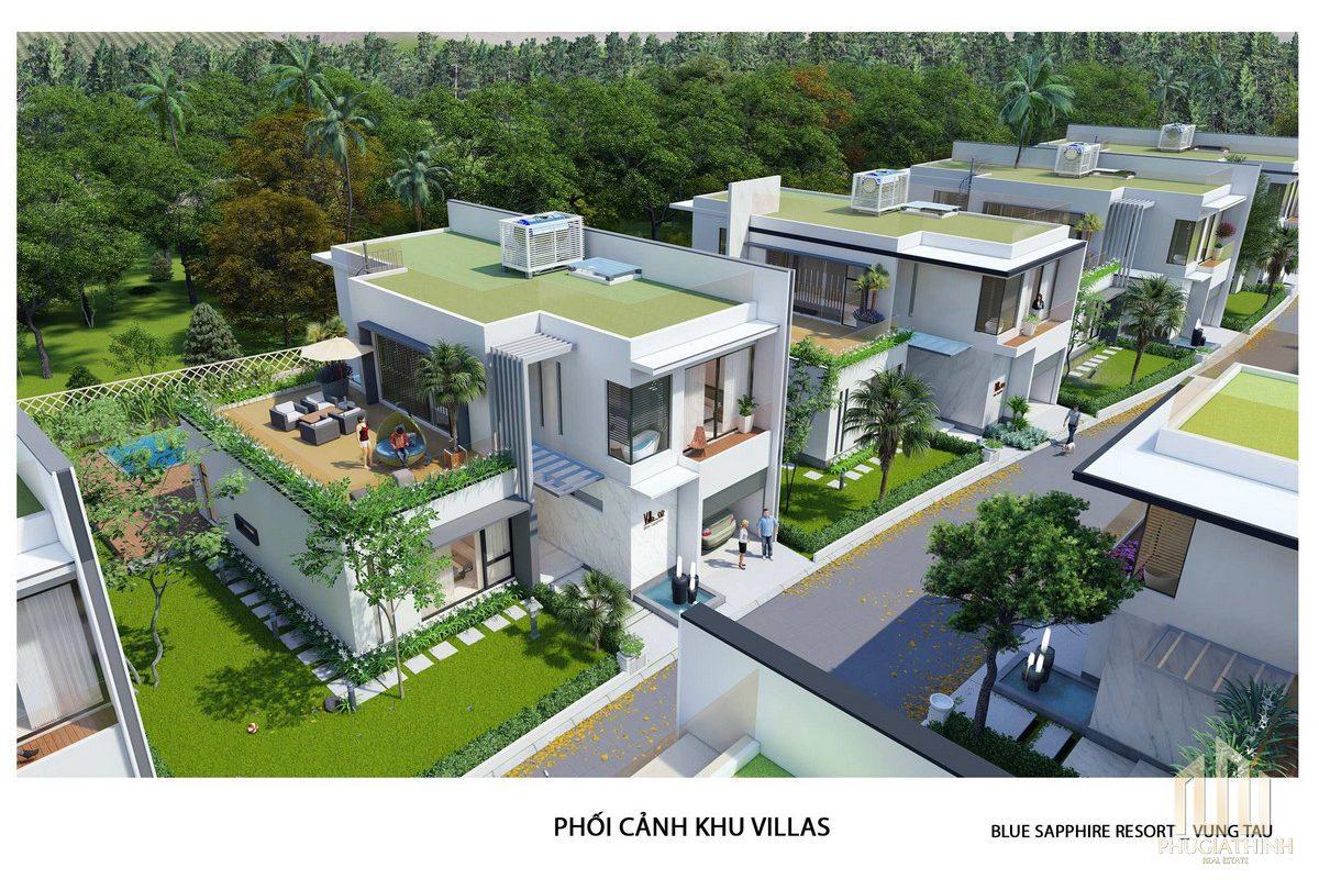 Mẫu biệt thự Villa Blue Saphhire - dự án Aria Vung Tau
