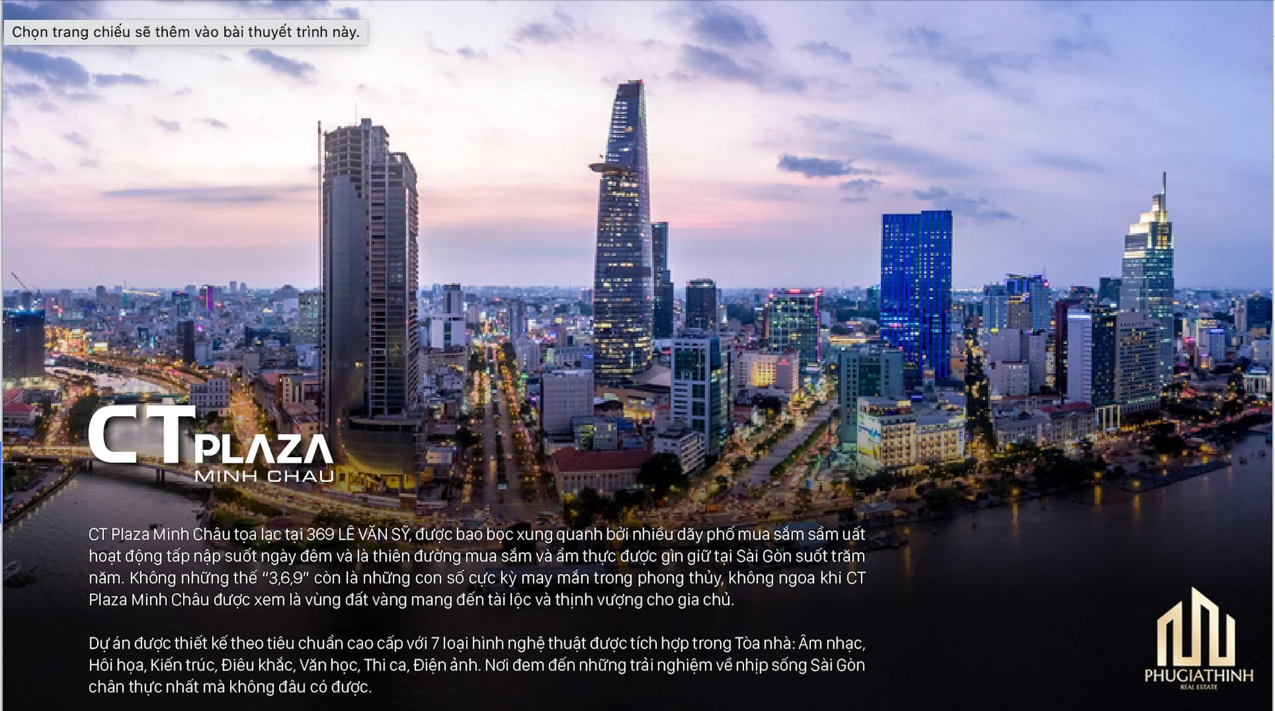 thông tin dự án CT Plaza Minh Châu Quận 3