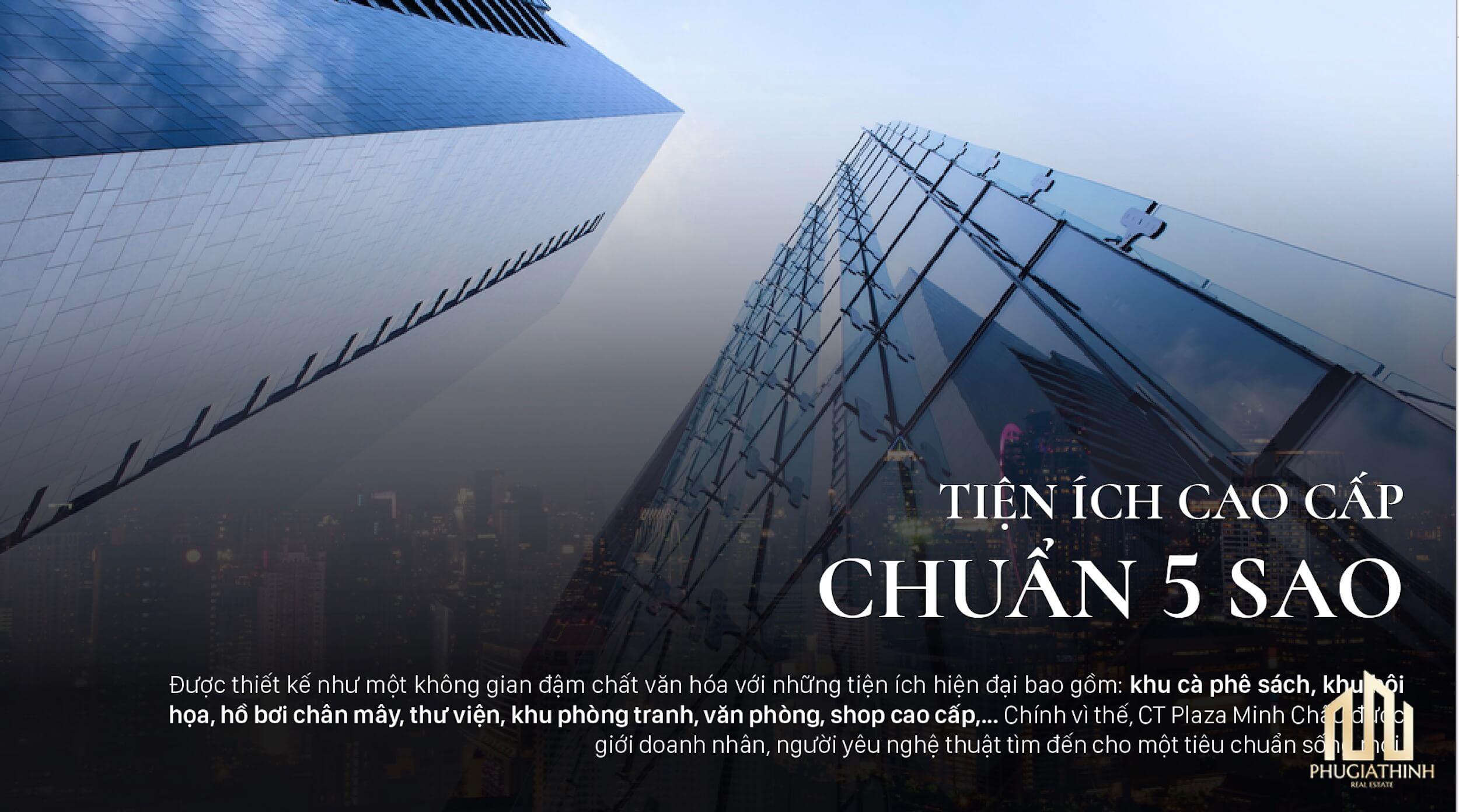 Tiện ích dự án CT Plaza Minh Châu Quận 3